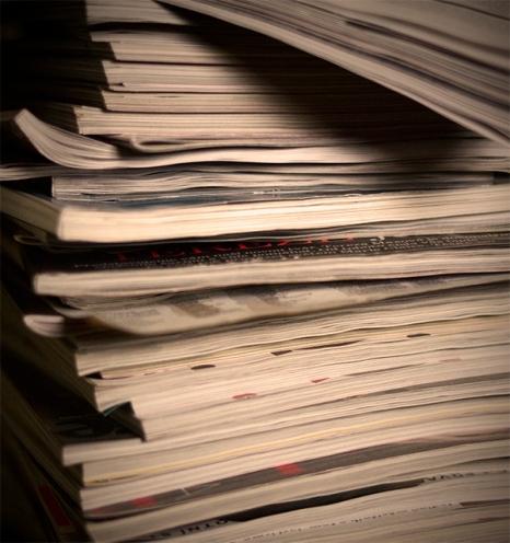 Hromadila jsem spousty časopisů ...